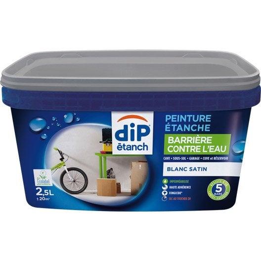 Peinture cave et sol dip blanc 2 5 l leroy merlin for Peinture sol exterieur etanche
