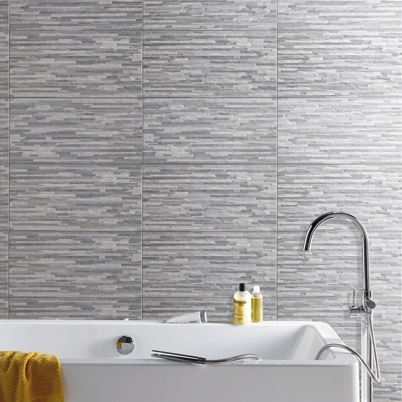 Carrelage mur gris, Listello l.30 x L.60 cm | Leroy Merlin