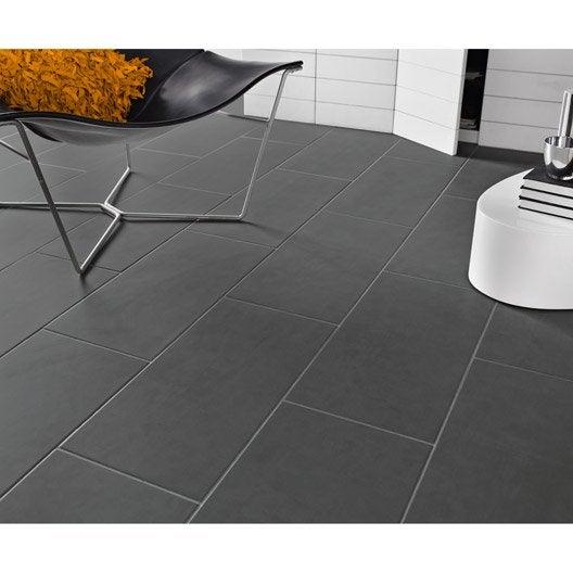 Carrelage sol et mur gris gris 1 effet b ton oslo x l for Carrelage effet beton gris