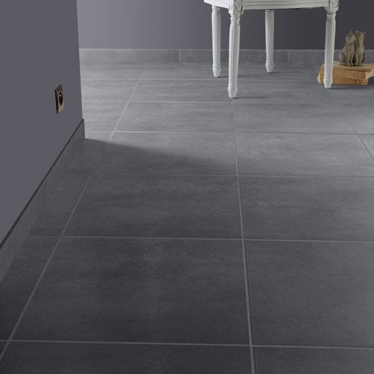 Carrelage leroy merlin gris for Carrelage sol gris