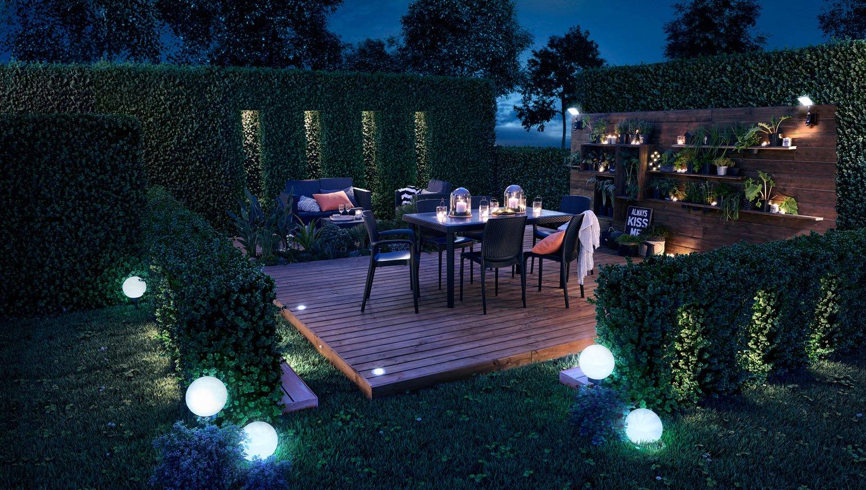 Idee Eclairage Terrasse Piscine un jardin bien éclairé | leroy merlin