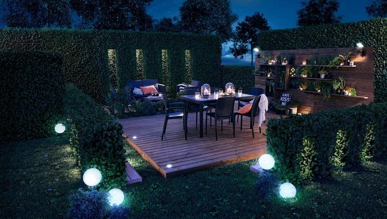 Un jardin bien éclairé