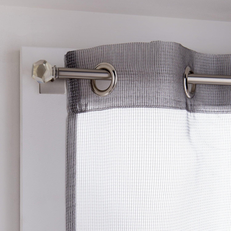 vitrage tamisant petite hauteur m tal argent x cm vitrage. Black Bedroom Furniture Sets. Home Design Ideas