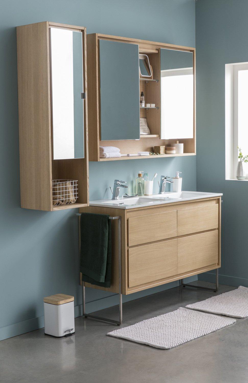 un style scandinave pour la salle de bains leroy merlin. Black Bedroom Furniture Sets. Home Design Ideas