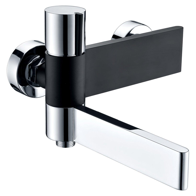 Mitigeur mécanique de baignoire chrome noir brillant, ROUSSEAU