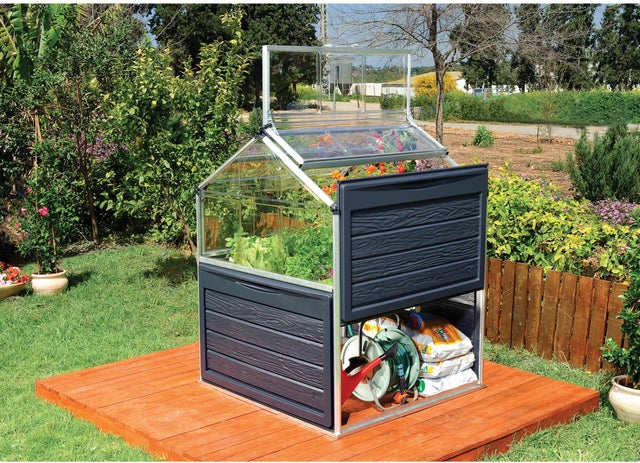 Mini serre de jardin carré potager PLANT INN 1.4 m² PALRAM