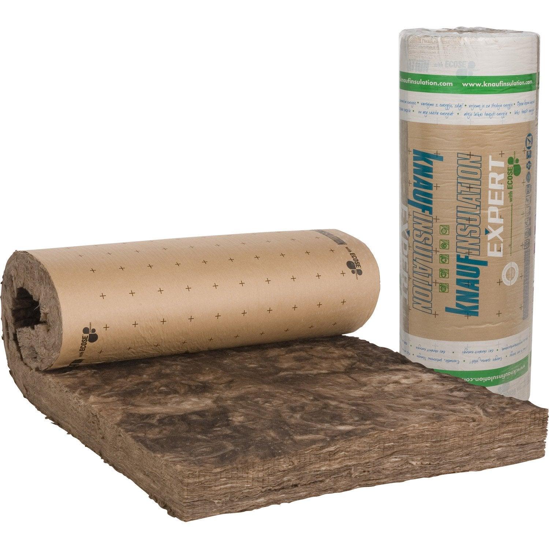 Laine de verre kraft lambda r 4 4 knauf insulation leroy merlin - Coefficient thermique laine de verre ...