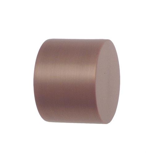 lot de 2 embouts inspire cuivre mat pour tringle rideau mm leroy merlin. Black Bedroom Furniture Sets. Home Design Ideas