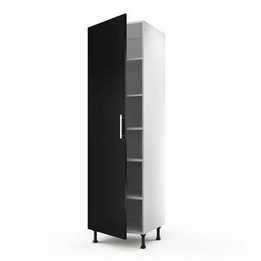 Meuble de cuisine colonne noir 2 portes d lice x l for Meuble 2 porte noir