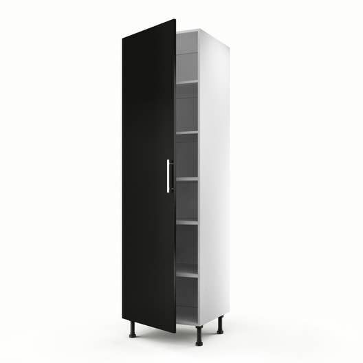 meuble de cuisine colonne noir 1 porte d lice x. Black Bedroom Furniture Sets. Home Design Ideas