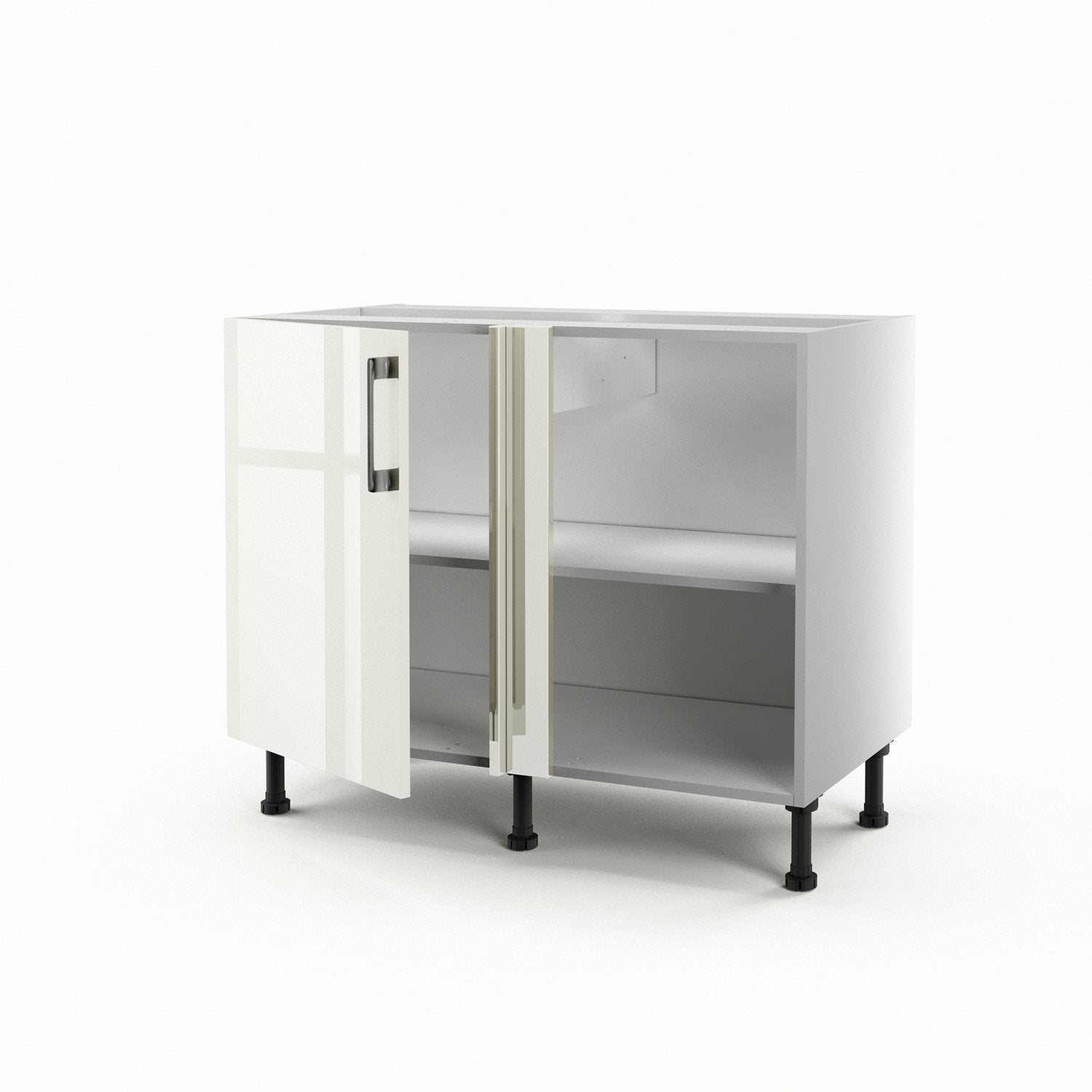 meuble de cuisine bas d 39 angle beige 1 porte perle x x cm leroy merlin. Black Bedroom Furniture Sets. Home Design Ideas