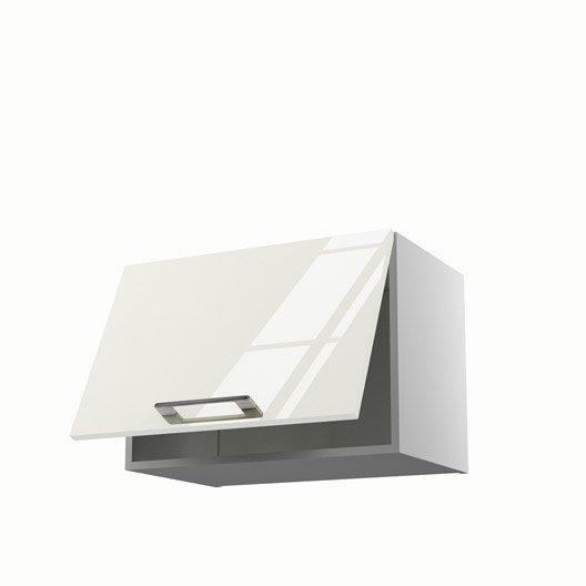 Meuble de cuisine haut sur hotte beige 1 porte perle for Porte cuisine 60 x 90