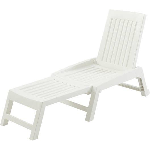 bain de soleil de jardin en r sine inject e orf o blanc. Black Bedroom Furniture Sets. Home Design Ideas