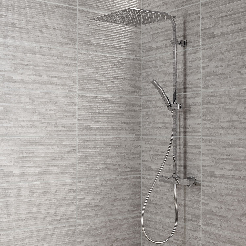 Carrelage mur gris, Wallstone l.30 x L.60.4 cm