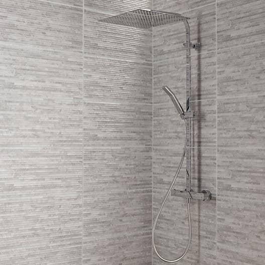 Carrelage mur gris wallstone x cm leroy merlin - Leroy merlin carrelage mural salle de bain ...