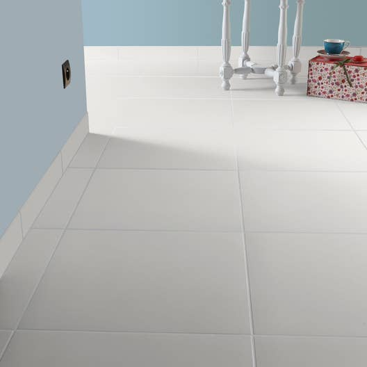 carrelage sol et mur blanc blanc 0 effet b ton universo x cm leroy merlin. Black Bedroom Furniture Sets. Home Design Ideas