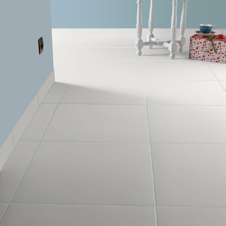 Carrelage Sol Et Mur Blanc Blanc Effet Béton Universo L X L - Peinture pour carrelage sol salle de bain leroy merlin