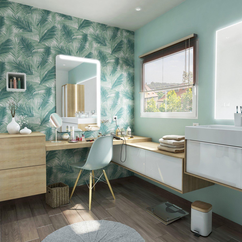 Une salle de bains tendance exotique | Leroy Merlin