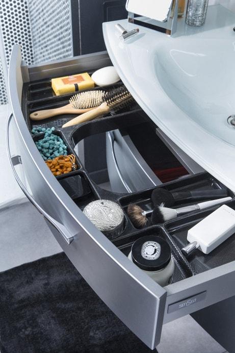 Un tiroir sous vasque pour vos accessoires de salle de bains
