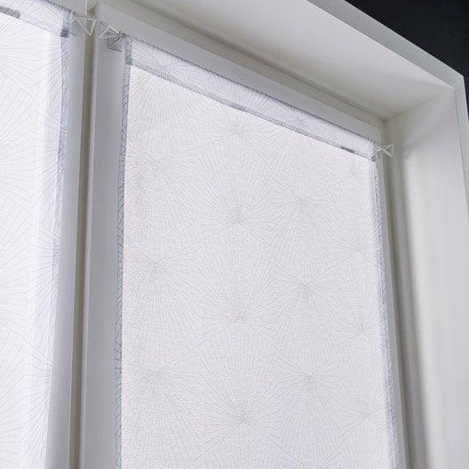 paire de vitrages tamisant petite hauteur kita blanc x cm leroy merlin. Black Bedroom Furniture Sets. Home Design Ideas