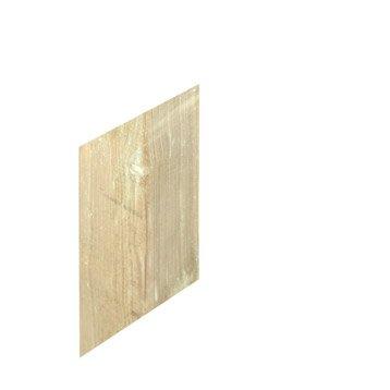 Poteau bois carré naturel, H.180 x l.7 x P.7 cm