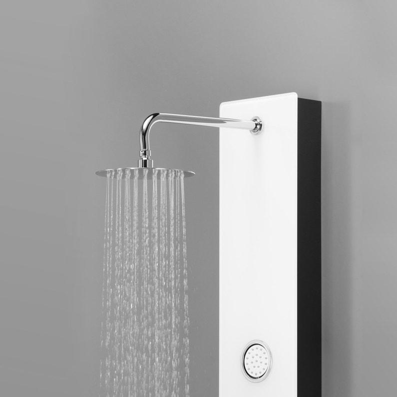 Colonne de douche hydromassante avec robinetterie, blanc, Halda ...