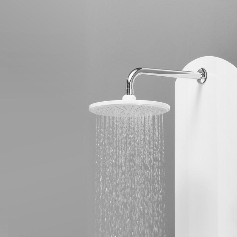 Colonne de douche hydromassante avec robinetterie, blanc, Moa ...