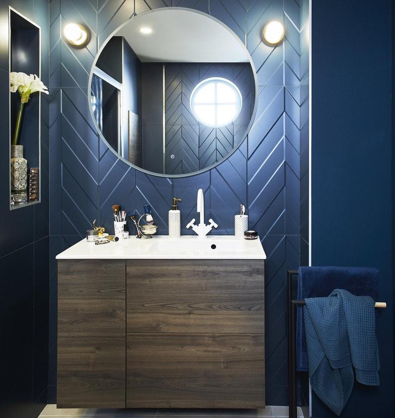 Miroir lumineux avec éclairage intégré, l.90 x H.90 cm Renzo