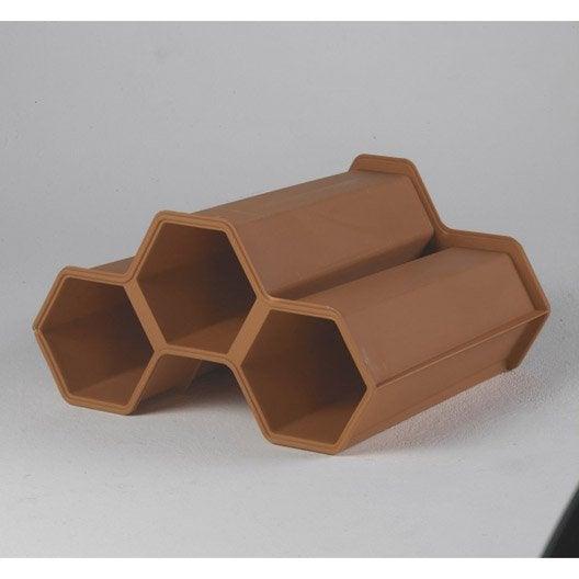 casier de 3 bouteilles en polypropyl ne leroy merlin. Black Bedroom Furniture Sets. Home Design Ideas