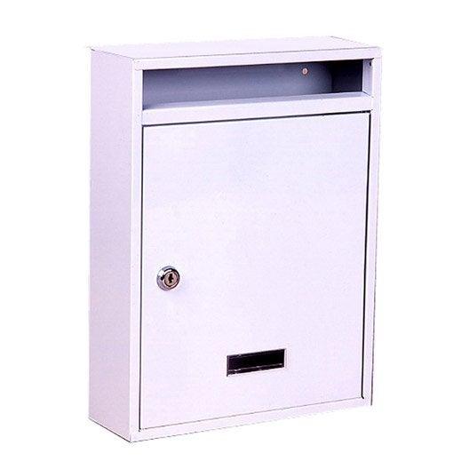 boîte aux lettres rénovation 1 porte decayeux norma, acier blanc