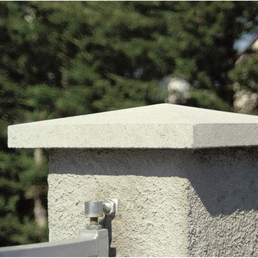 chapeau de pilier pointe de diamant 40 x 40 blanc leroy merlin. Black Bedroom Furniture Sets. Home Design Ideas