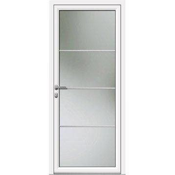 Porte d'entrée aluminium Laly ARTENS poussant droit, H.215 x l.90 cm