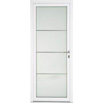 Porte d'entrée aluminium Laly ARTENS poussant gauche, H.215 x l.90 cm