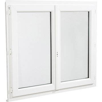 Fenêtre pvc 2 vantaux ouvrant à la française H.190 x l.90 cm