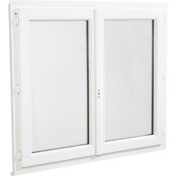 Fenêtre pvc ARTENS 2 vantaux ouvrant à la française H.115 x l.100 cm