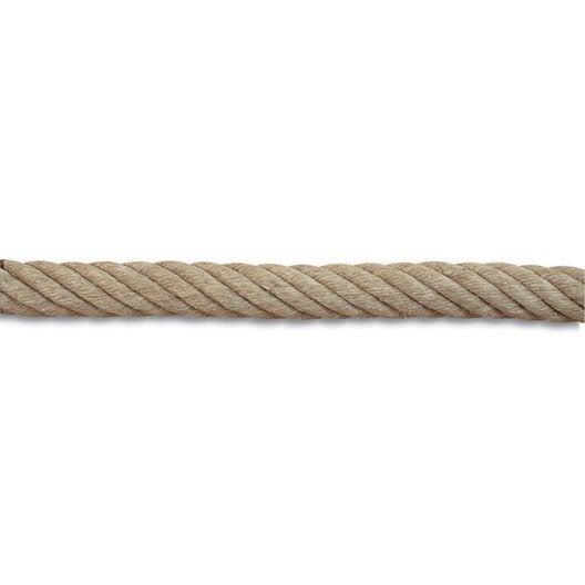 corde de rampe et accessoires en chanvre diam. 32 mm | leroy merlin