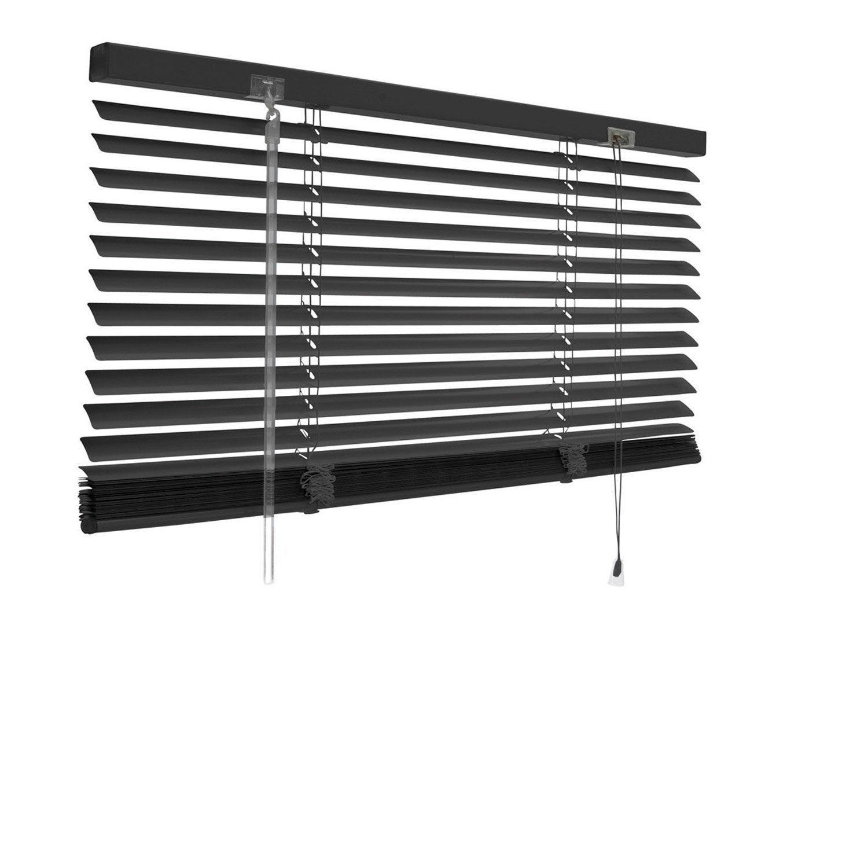 Store Vénitien Aluminium, Noir Noir N°0, L.40 X H.