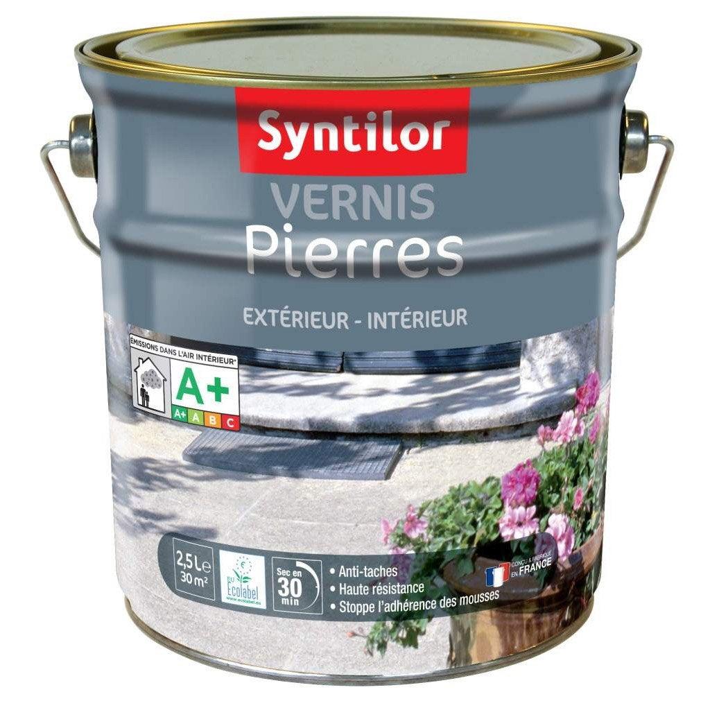 Vernis Pierre Extérieur / Intérieur Pierre SYNTILOR, Incolore, 2.5 L