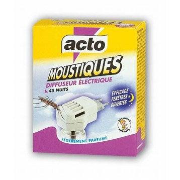 Diffuseur antimoustiques ACTO, 1 diffuseur électrique + 1 recharge 30ml