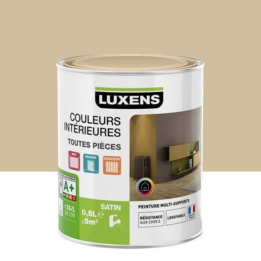 Peinture murale couleur peinture acrylique leroy merlin for Peinture couleur caramel