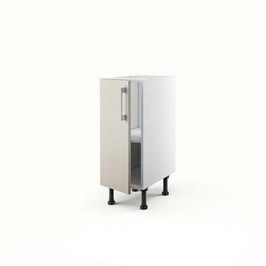 Meuble de cuisine bas gris 1 porte topaze x x p for Meuble bas 30 cm cuisine