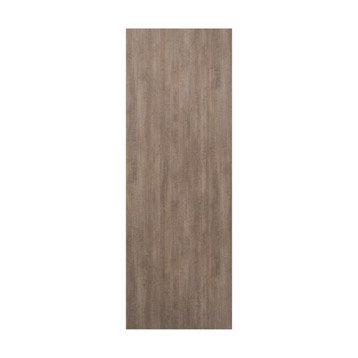 Porte coulissante sapin revêtue décor chêne vieilli Vintage, H.204 x l.73 cm