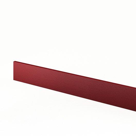 Plinthe de cuisine rouge rubis x cm leroy for Plinthe cuisine 17 cm