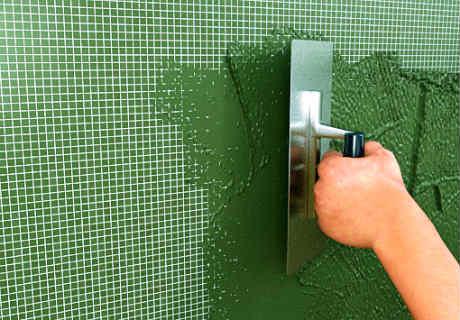 Comment isoler une fa ade sous enduit leroy merlin - Appliquer un enduit de facade ...