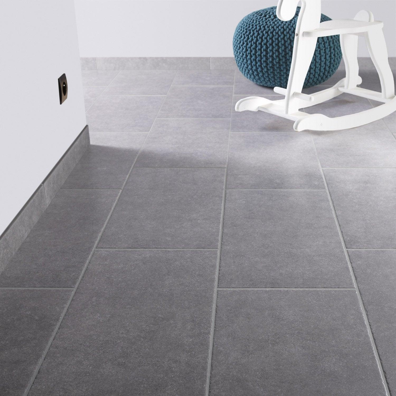 Carrelage sol et mur gris bleu effet pierre bruges x for Carrelage bleu sol
