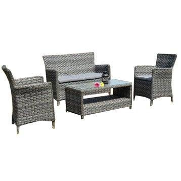 salon de jardin table et chaise mobilier de jardin. Black Bedroom Furniture Sets. Home Design Ideas