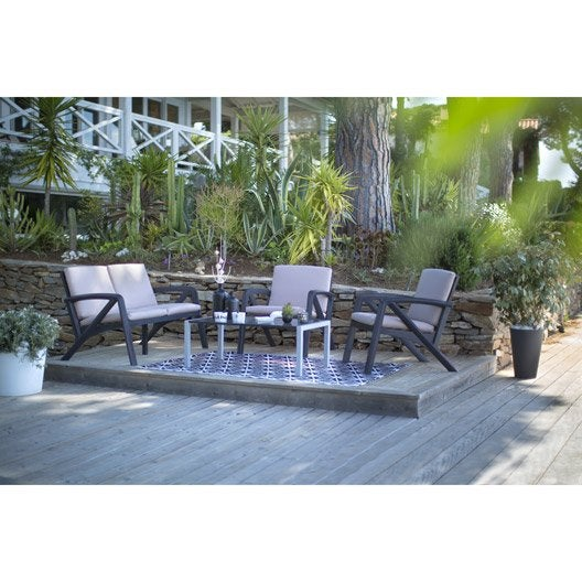 Salon De Jardin Gris Anthracite Plastique – Qaland.com