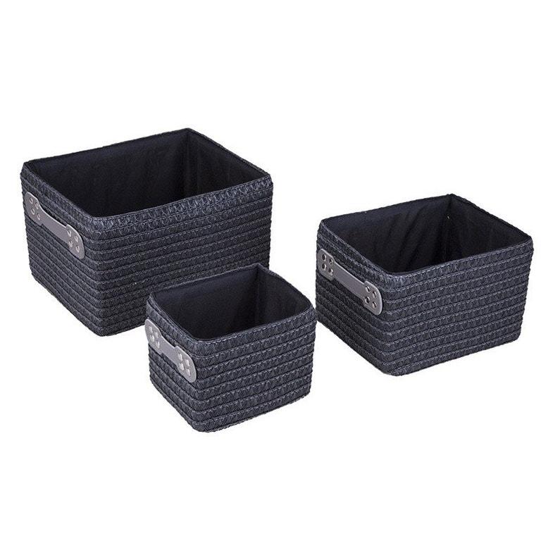 lot de 3 paniers en plastique paris n 1 paille leroy merlin. Black Bedroom Furniture Sets. Home Design Ideas
