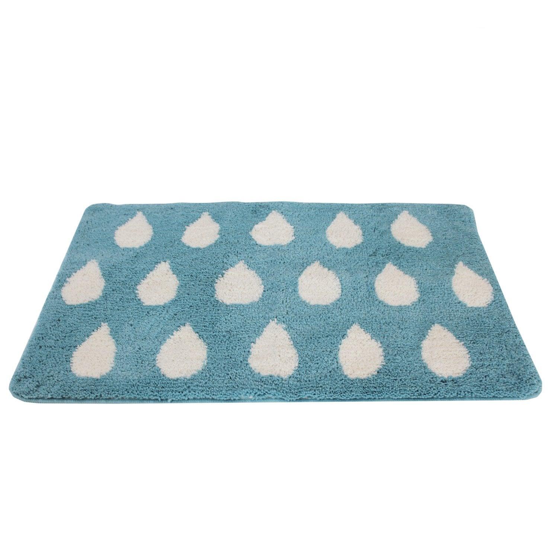 tapis de bain x cm bleu baltique n 3 soft sensea leroy merlin. Black Bedroom Furniture Sets. Home Design Ideas