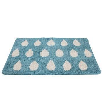 Tapis de bain l.55 x L.85 cm bleu baltique n°3, Soft SENSEA